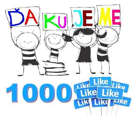 1000. like na facebooku