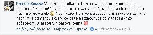 Prispevok matky Šimonka na FB